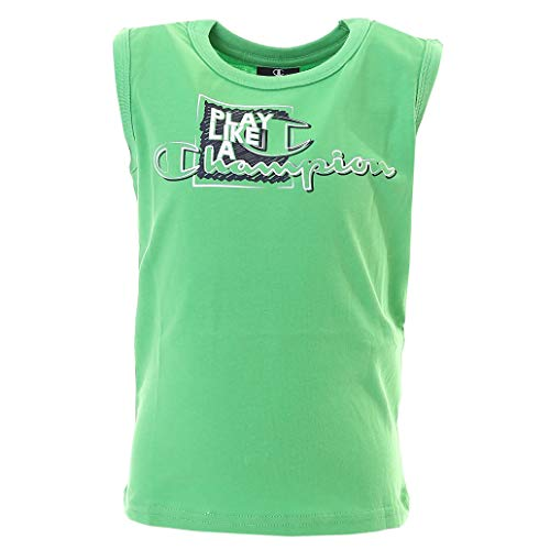 Champion 304891GN - Camiseta deportiva sin mangas para niños Verde verde 128 cm