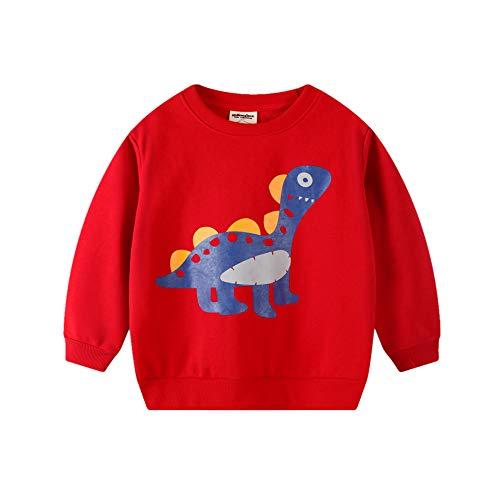 Surwin Jungen Sweatshirt Kinder Warme Pullover T-Shirt Top Langarm Shirt für Baby...