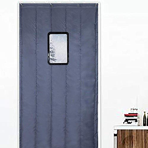 ZXL Dark Gray Door Curtain Thermische Protection Warm Isolatie voordeur Greenhouse Barn Door Panel Waterproof Windproof Customize (grootte: 130 x 200 cm)