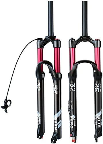 FGDFGDG MTB Bifurcación de Aire con Ajuste de amortiguación 26/27.5/29 Pulgadas Bicicleta Ultraligero Tenedor de suspensión Hecho de aleación de Aluminio, Hombro,Straight Remote,29in