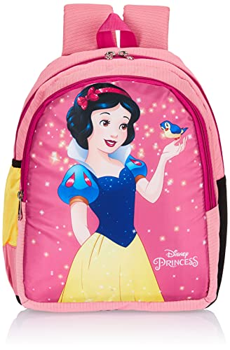 Priority Disney Snow White 20 litres Pink Polyester Kids School Bag | Casual Backpack for Girls (25156)
