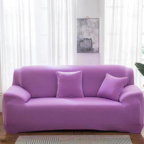 Furniture Protector for Sofa,Stretch Sofa Covers,Pure color stretch sofa cover, sofa cover all-inclusive universal cover sofa cushion fabric full cover-Q12_4 seats (235-300cm)