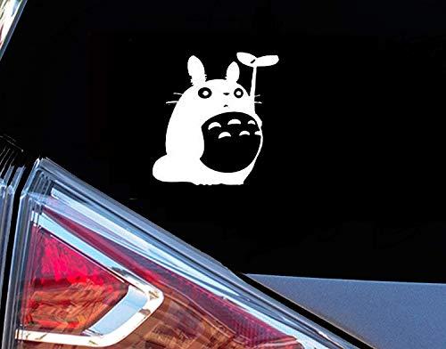 H-Tradings Totoro Studio Ghibli White 5 Inches Approx Cars Walls Helmets Toolbox Laptop Die-Cut Vinyl Stickers Decals Vans SUV Trucks Windows Bumper
