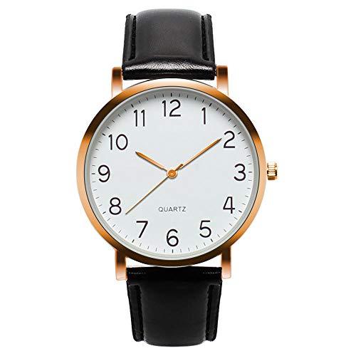 YXXERSHI Fashion herenhorloges, heren simpel Busines horloge, vintage kwarts watch-A