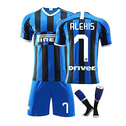 MRATME Jugend Kinder Fußball Trikots für Erwachsene Sportswear, 9 Icardi, ALEHIS 7 Mailands Trainingsuniform für die Saison 19-20, Heimtrikot, neutrales, verschleißfestes Comf-blue-20