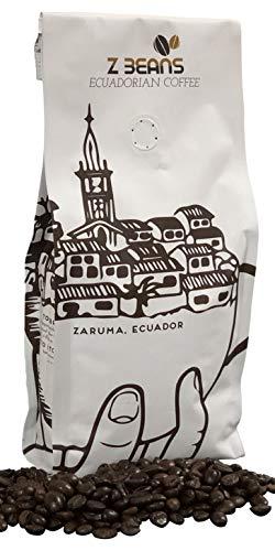 Z Beans Coffee - Authentic Ecuadorian Coffee - Arabica, Specialty Whole Bean Coffee (12oz. Bag) - Dark Roast Single Origin - High Altitude Grown - 100% Processed Organic - 100% Local Farmer Validated