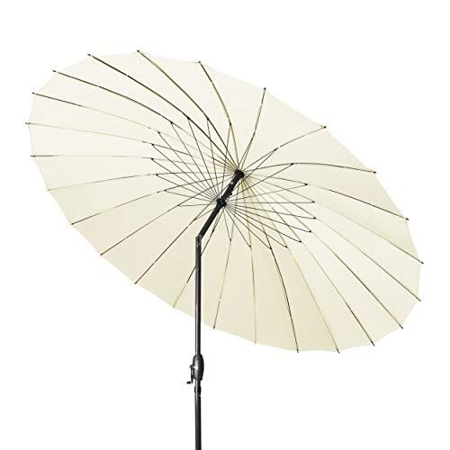 Derby Shanghai II 270 – Hochwertiger Alu Sonnenschirm ideal für den Garten – Witterungsbeständig – ca. 270 cm – Natur