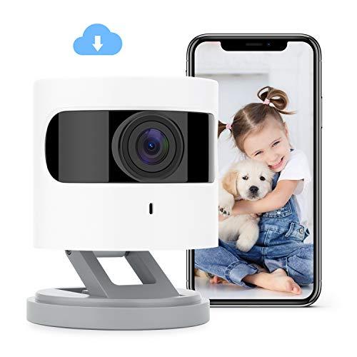 Azarton WiFi Kamera, 1080p HD WLAN IP Kamera, Überwachungskamera Innen mit IR Farbnachtsicht, Sprachassistent, Baby Kamera, 2-Wege-Audio, Azarton App, kompatibel mit Alexa, Google Assistant