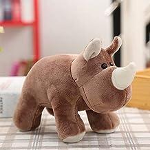 XINHU Pluchen Speelgoed Simulatie Olifanten Neushoorns Opgezette Dieren Pop Kinderen Een Geschenk (Color : Rhinoce)