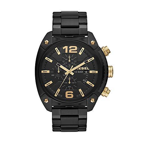 Diesel Men's Overflow Quartz Watch with Stainless Steel Strap, Black, 24 (Model: DZ4504)