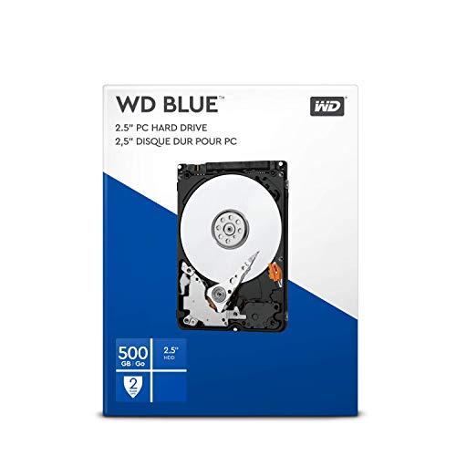 """WD BLUE 2.5"""" Disco Rigido Interno - Classe de 5400RPM., SATA 6 Gb/s, 16 MB Cache, 500 GB"""