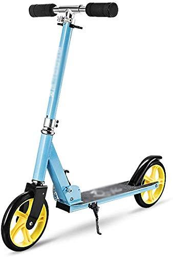 JSDKLO Scooter Wheels 3-6-9 años de edad de dos ruedas plegable Kick Scooter de elevación plegable todo aluminio micro scooter azul
