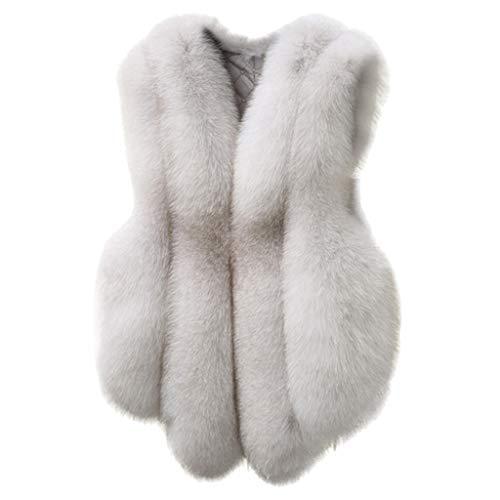 Moonuy Dame Kurzmantel Plus Size Gilet Frauen ärmellose dünne Weste Outwear Warme Kunstpelz Weste Mantel Kausal Warme Weste