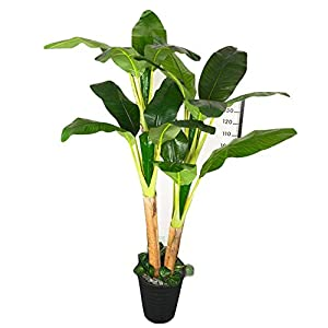 Simulation Tree Banana Tree Artificial Tree, Artificial Flower, Living Room Decoration, Potted Large-Scale Bonsai