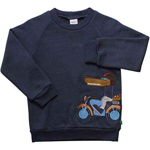 Fred's World by Green Cotton Jungen Hello Crocodile Sweat Sweatshirt, Blau (Midnight 019411006), (Herstellergröße:122)