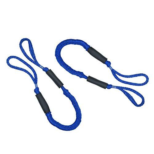 CHANGshui 2 unids 3.5-5.5 pies Línea de acoplamiento de la cuerda de la línea de arrastre de nylon de servicio pesado Barco de la cuerda de la cuerda de la cuerda de la cuerda del anclaje de la cuerda