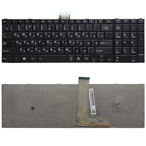 MJYGV computer keyboard U Version Keyboard for Toshiba Satellite C50-A C50-A506 C50D-A C55T-A C55-A C55D-A(Black) MJ (Color : Black)