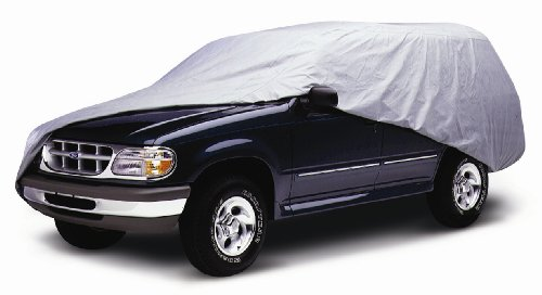 Coverite 14703 SUV Cover Fits Mid Size SUV up to 179' (455 cm) (Bondtech, Gray)
