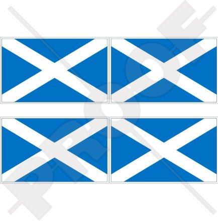 Navy Blue British 100mm SCOTLAND Scottish Flag UK Sticker Decal x1 ...