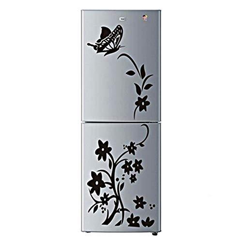 unknow Sawyerda - Adhesivo decorativo para pared, diseño de mariposas, color negro