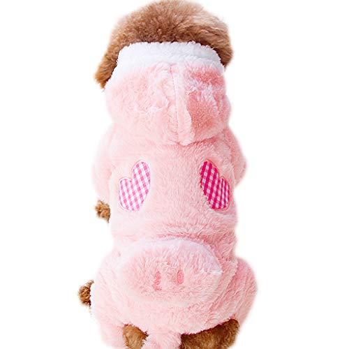 alla Moda Vestiti for Animali XS/S/M/L/XL Vestiti del Cane a Quattro Zampe Vestiti di Autunno Spesso e Abbigliamento Invernale Facile da Pulire (Size : XL)