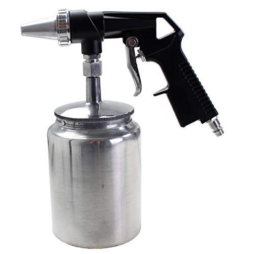 WD Tools Druckluft Sandstrahler PS1, 4-10 bar, Sandstrahlpistole, Düse 6,3 mm, Luftverbrauch 160 l/min, Behälter 1L, entfernt Farben & Rost, Sandstrahlgerät