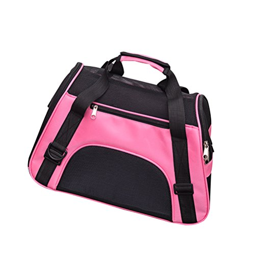 NINIWA Dogs/Cats Handbags breathable suitcase size L (Pink)