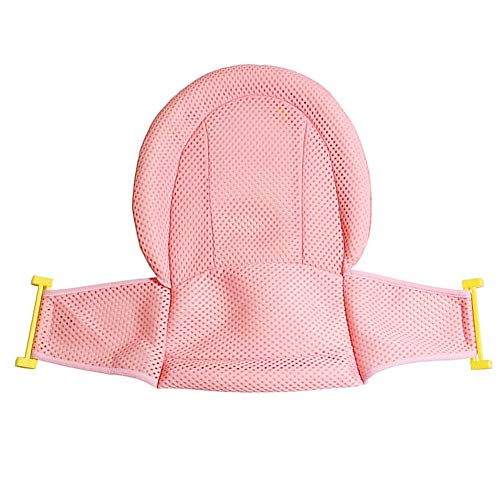 Baby Bath asiento de soporte neto Bañera Ducha malla no Pink Slip ajustable para un infante recién nacido