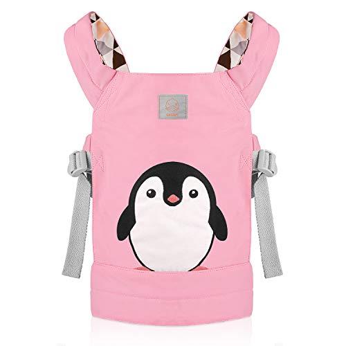 GAGAKU Puppentrage Baby Vorne und Hinten aus Baumwolle für Kinder, Süßes Pinguin Muster