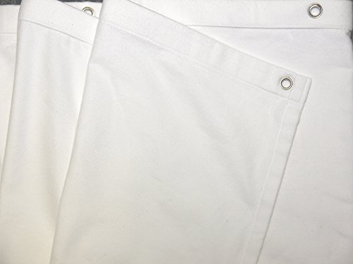 GGM Bühnenvorhang grösse wählbar Farbe:weiß B1 Molton 300gr/m geöst (300cm * 300cm)