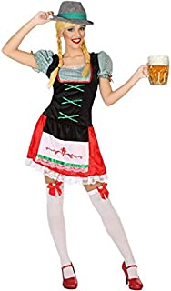 Atosa-56477 Atosa-56477-Disfraz Alemana-Adulto XXL-Mujer, Color Verde (56477)