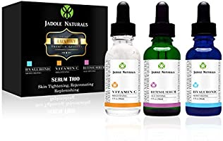 Anti Aging Set with Vitamin C Retinol Hyaluronic Acid Serum