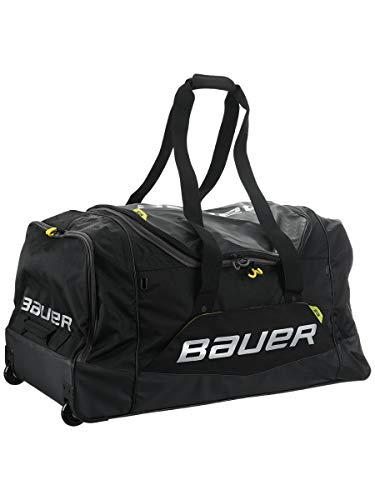 """Bauer Hockey Elite Wheeled Hockey Bag, Black (35"""" L x 18"""" H x 18"""" W)"""