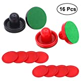 YeahiBaby 16PCS 76MM Air Hockey Pushers and Pucks Replacement for Game Tables Goalies (Red and Dark Blue)