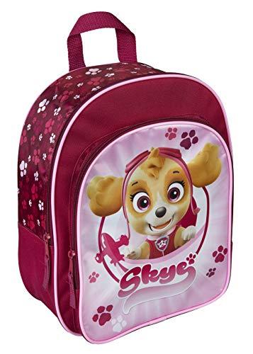 Kinderrucksack Kindergartentasche Kindergartenrucksack mit Vortasche Lizenz Rucksäcke Motiv kompatibel mit Paw Patrol Skye- für Mädchen im Kindergarten oder Kita Geschenk Idee Ostern