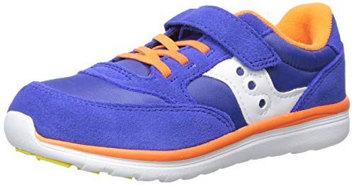 Saucony Baby Jazz Lite Sneaker, Blue/Multi, 100 Wide US Toddler