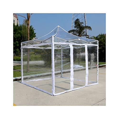 GDMING Gazebo Emergente Transparente, Impermeable Tarea Pesada Carpa con Dosel, Recubierto De PVC Jardín Toldo para Al Aire Libre Patio Cubrir, 4 Tamaños (Color : Claro, Size : 3x3m)