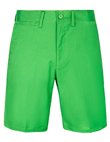 Bakery Men's Golf Shorts Relaxed Fit Cool Quick Dry Flat Front Tech Performance Chino Pants Size 36 Green