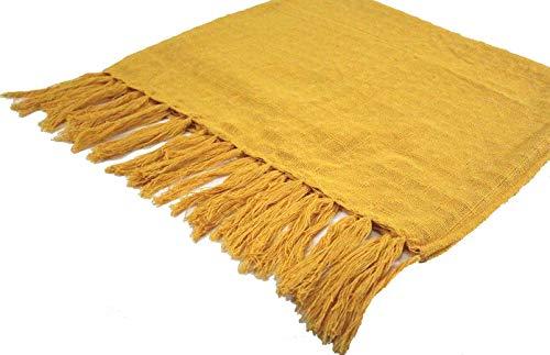 manta de sofa para sofá xale chale poltrona decorativa amarela 1.80x1.20