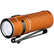 Olight S1R II Orange 1000 Lumen Compact Rechargeable EDC Flashlight with Single IMR16340 and Magnetic Charging Cable (Orange)