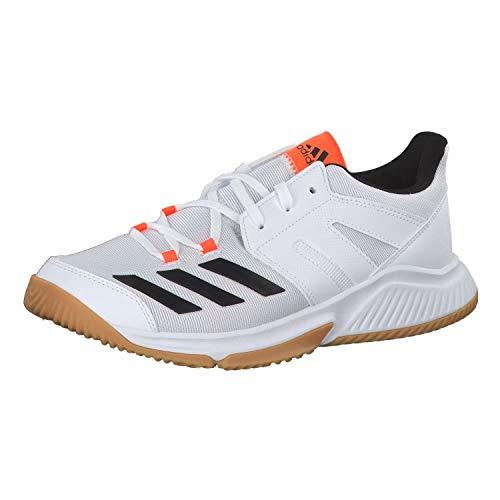 adidas Essence, Chaussures de Handball Homme, Multicolore (FTW Bla/Negbás/Narsol 000), 47 1/3 EU