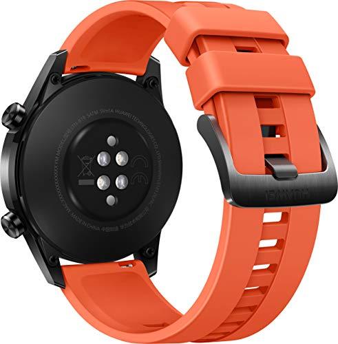 HUAWEI Watch GT 2 Smartwatch (46mm, OLED Touch-Display, Fitness Uhr mit Herzfrequenz-Messung, Musik Wiedergabe & Bluetooth Telefonie, 5ATM wasserdicht) sunset orange - 4