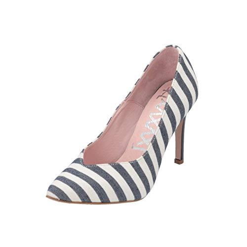 xyxyx 054005 Damen Pumps Blau High-Heels Stilettos Absatz-Schuhe, Größe:EUR 37