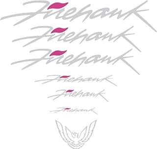 Graphicsplus123 Pontiac Firehawk Firebird Trans Am and Formula Decal Set 93-02 (Silver/Pink)