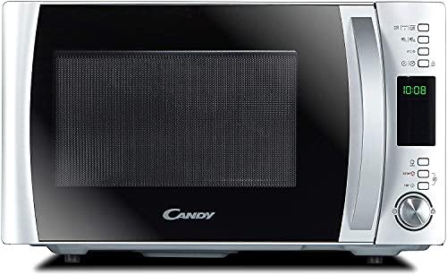 Candy CMXW22DS Forno a Microonde 22 Litri, 800 W, 5 Livelli di Potenza, 40 Programmi Automatici con App Cook-in, Digitale, Libera Installazione, 46.1X36.5X29 cm, Inox