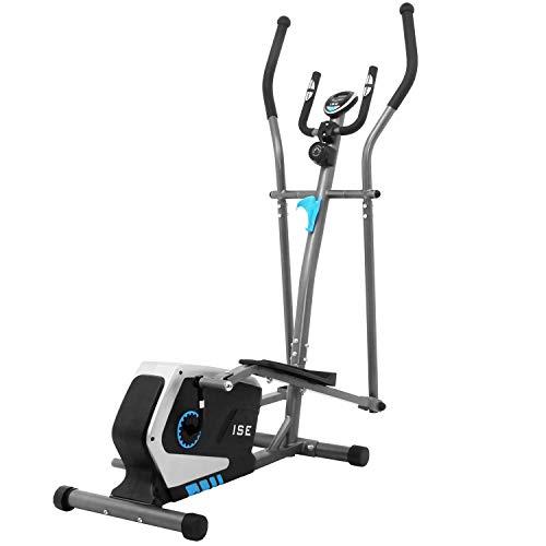ISE Vélo d'appartement Vélo elliptique Magnétique Cross Trainer,LCD Display, Ergomètre...