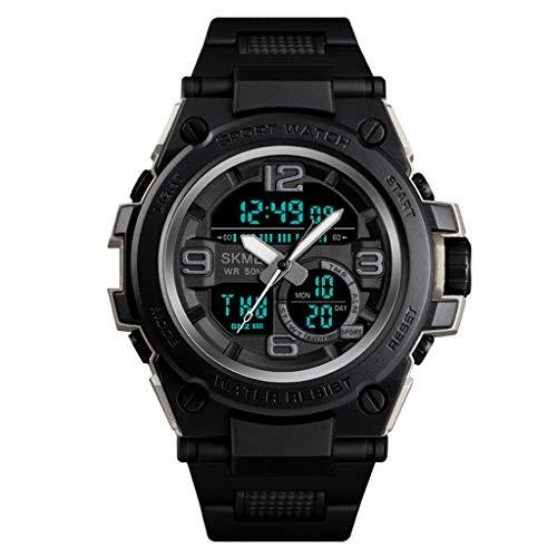 Reloj deportivo para hombre Reloj deportivo digital para exteriores Reloj deportivo a prueba de agua con relojes luminosos con retroiluminación LED para hombres en funcionamiento ( Color : A )