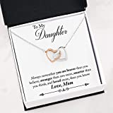 Faith Davis Interlocking Hearts Necklace - Gift for Daughter from Mom - Birthday, Graduation, or Just Because!