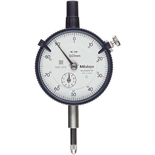 MITUTOYO 2046SB - Reloj contador DIN 878, rango de medición de 10mm, lectura de 0,01mm, 1unidad