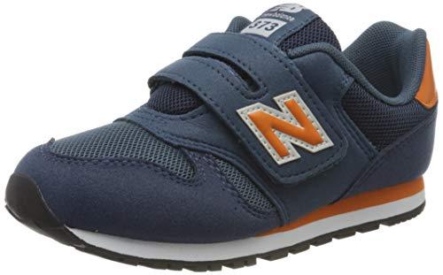 New Balance Jungen 373v2 Sneaker, Blau (Navy/Orange Kn), 30.5 EU